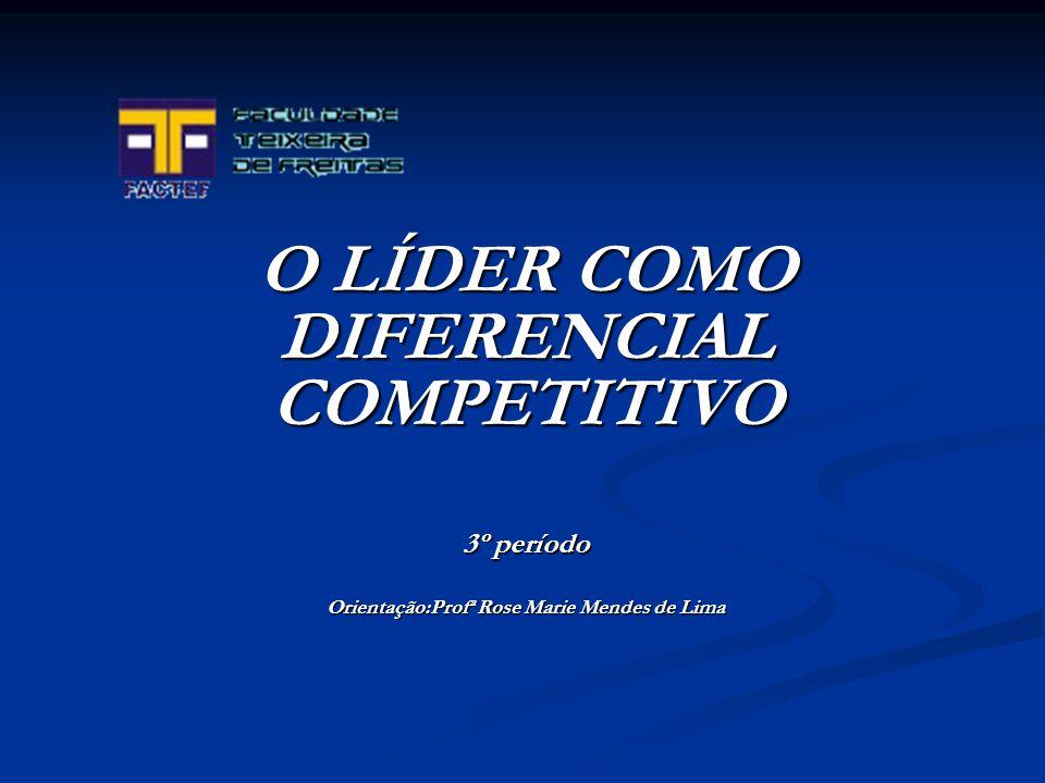 O LÍDER COMO DIFERENCIAL COMPETITIVO 3º período Orientação:Profª Rose Marie Mendes de Lima
