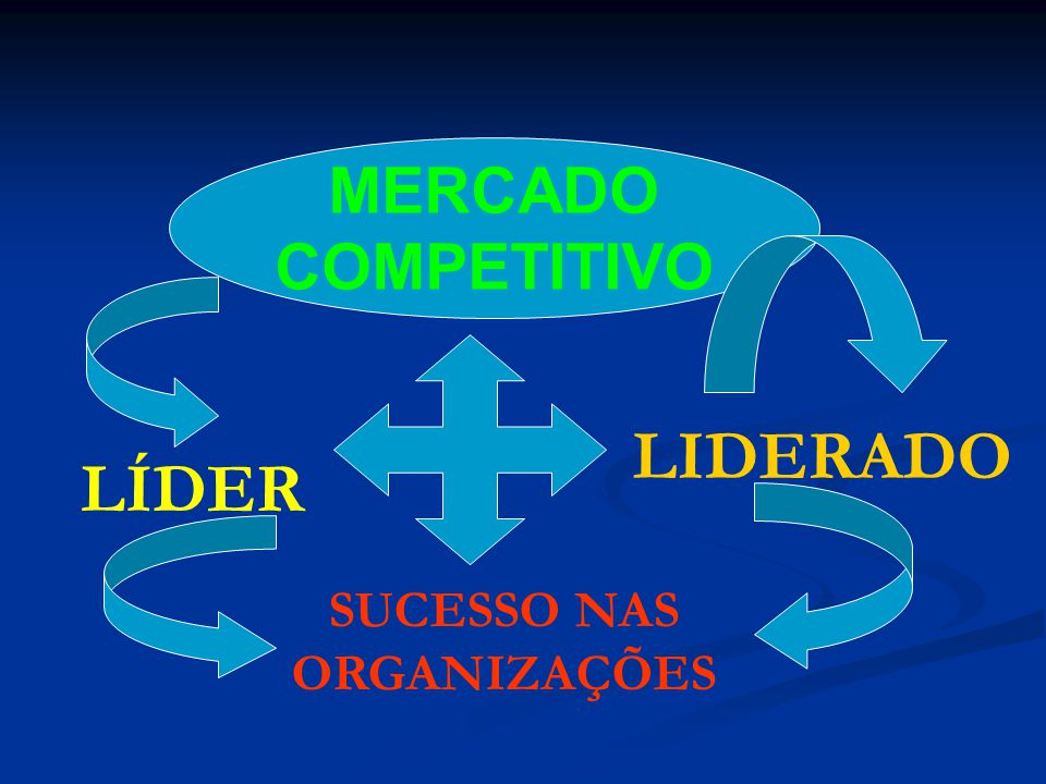 MERCADO COMPETITIVO LÍDER LIDERADO SUCESSO NAS ORGANIZAÇÕES