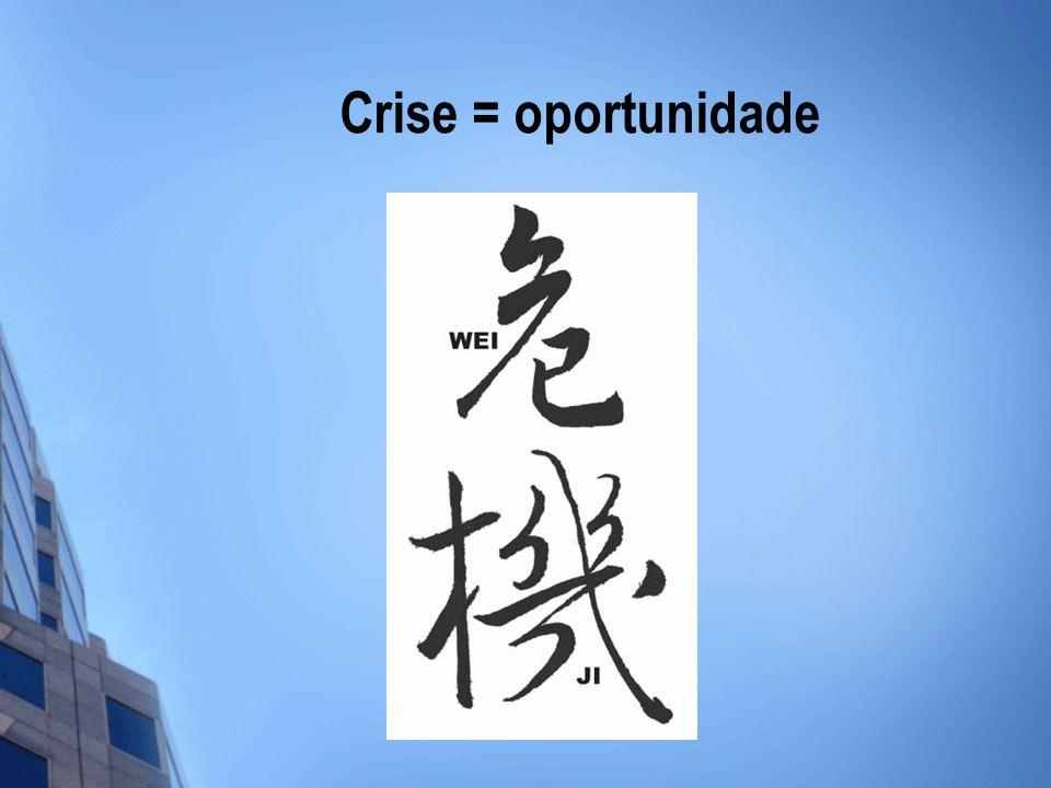 Crise = oportunidade
