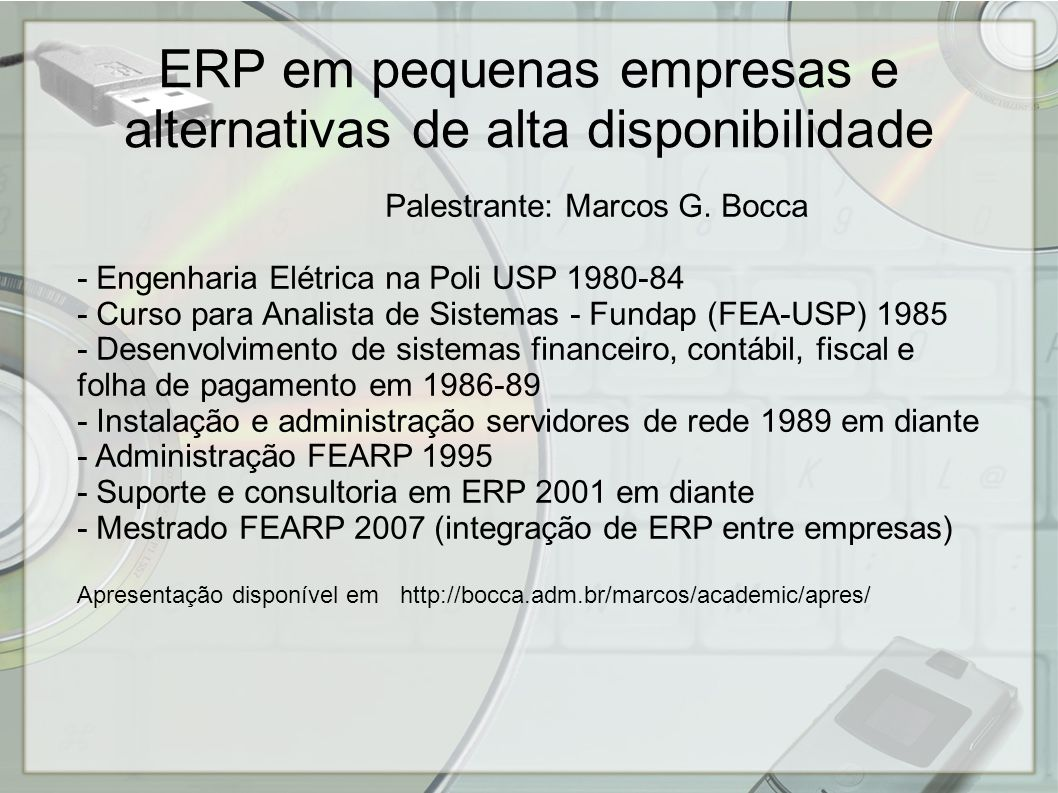 - Empresa pequena precisa e pode ter ERP.- Empresa pequena deve e pode ter um ERP que nunca para.