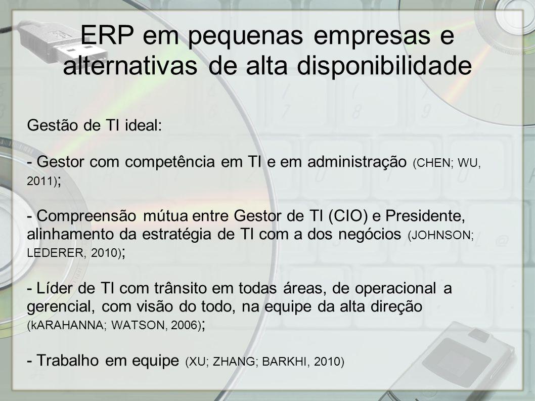 ERP em pequenas empresas e alternativas de alta disponibilidade - Empresa pequena deve ter alta disponibilidade de ERP.