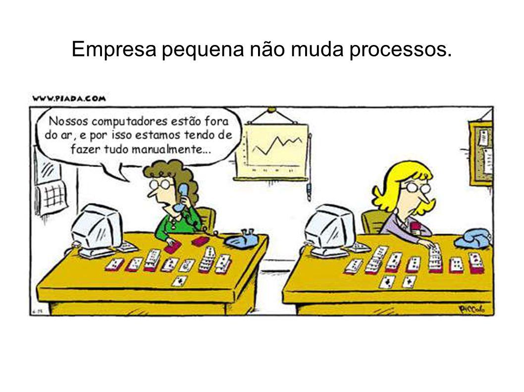 ERP em pequenas empresas e alternativas de alta disponibilidade Soluções de mercado: - Fornecedores ERP no Brasil para média e grandes empresas: Pesquisa anual CIA - Centro de Tecnologia de Informação Aplicada da FGV- EAESP Situação no início de 2012 2.180 Empresas (validadas) 66% das 500 maiores Amostra bastante representativa das médias e grandes empresas nacionais de capital privado - Serie Estudos (atendia IDG até 1997): cruza varias fontes de informação (publicações oficiais, entrevistas, depoimentos de diretores, consulta a profissionais familiarizados com cada segmento...)