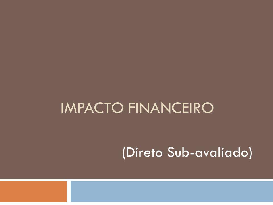 IMPACTO FINANCEIRO (Direto Sub-avaliado)