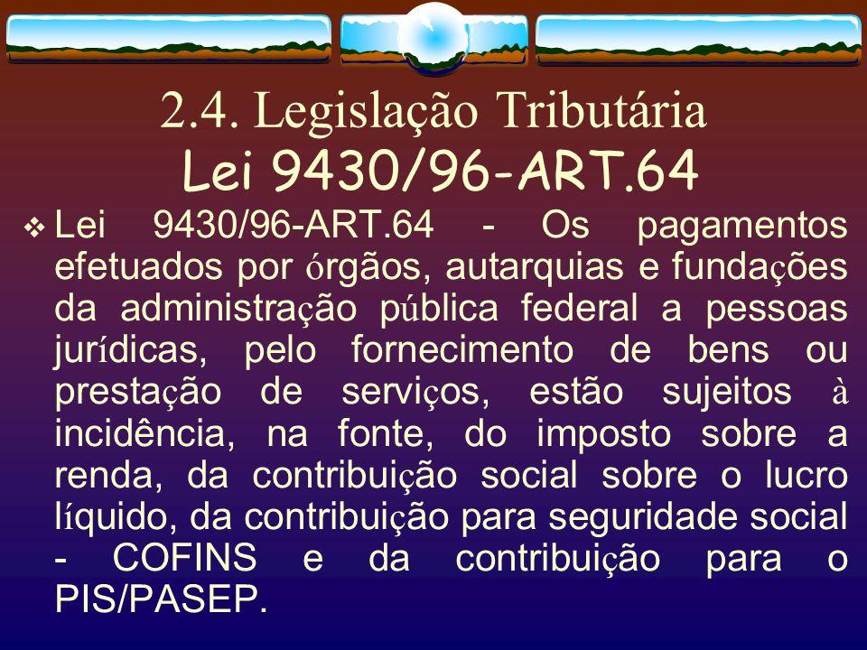 2.3. Legislação Tributária Lei 9718… III - o valor referente às indenizações correspondentes aos eventos ocorridos, efetivamente pago, deduzido das im