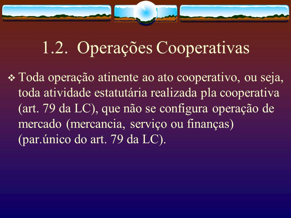 1.1. Os sócios de uma cooperativa Nomenclatura nova, sócios, dada pelo art. 1093 e seguintes do Código Civil. Pessoas físicas (há exceções), que se re