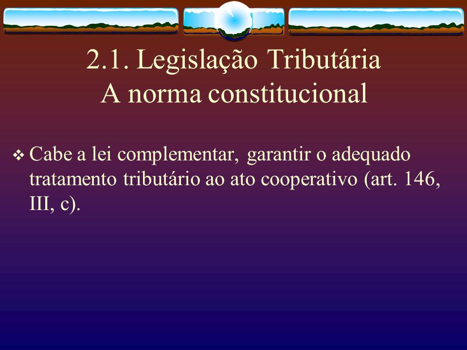 1.5. Renda tributável Os resultados positivos dos atos não cooperativos, serão considerados renda tributável (art. 111 da LC).