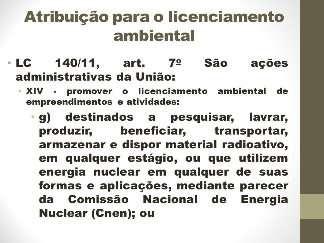Atribuição para o licenciamento ambiental LC 140/11, art.