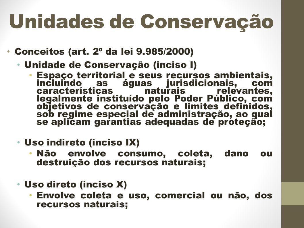 Unidades de Conservação Conceitos (art.