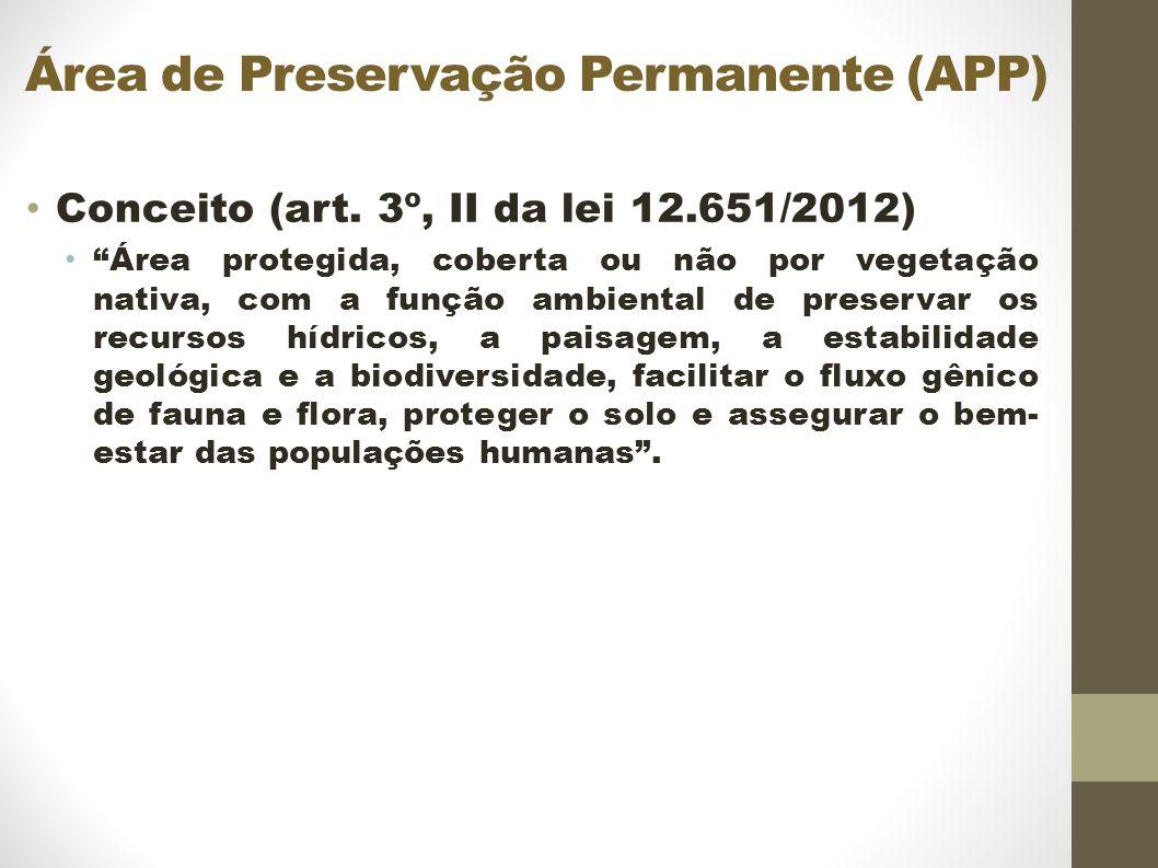 Área de Preservação Permanente (APP) Conceito (art.