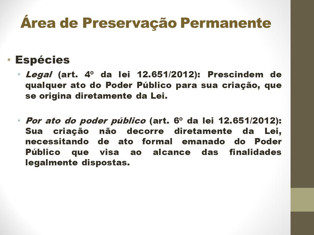 Área de Preservação Permanente Espécies Legal (art.