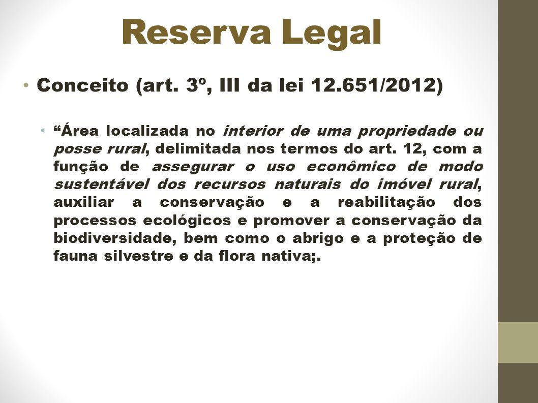 Reserva Legal Conceito (art.