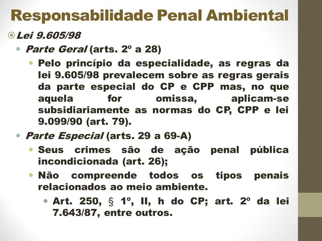 Responsabilidade Penal Ambiental Lei 9.605/98 Parte Geral (arts.