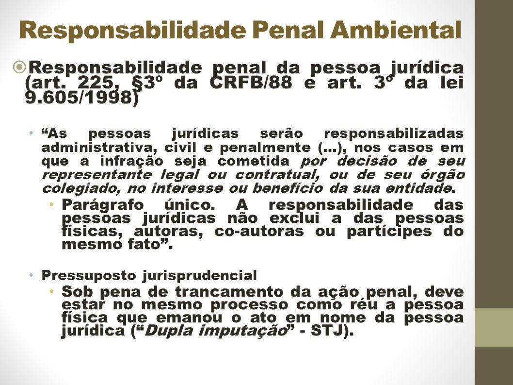 Responsabilidade Penal Ambiental Responsabilidade penal da pessoa jurídica (art.