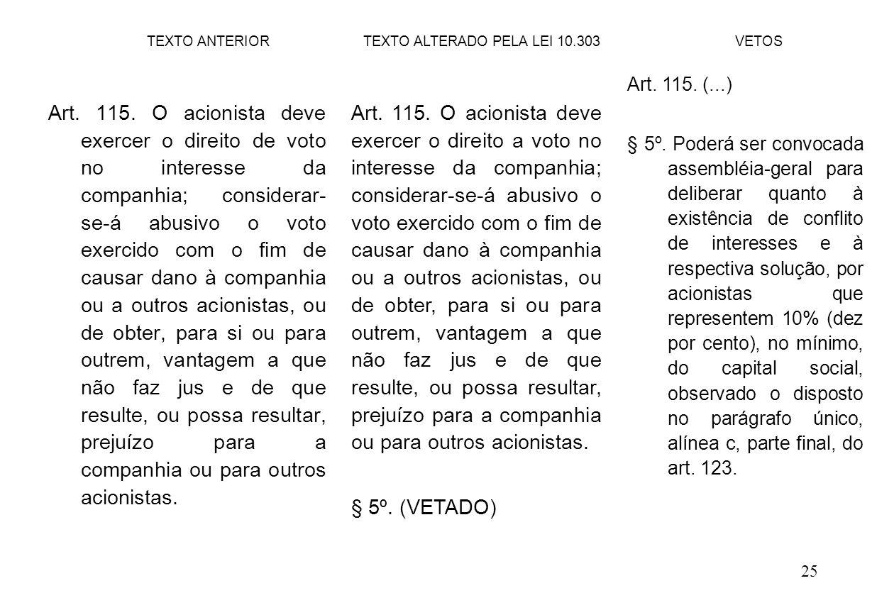 25 Art.115.