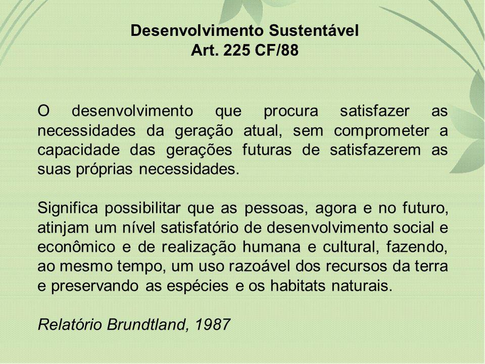 O desenvolvimento que procura satisfazer as necessidades da geração atual, sem comprometer a capacidade das gerações futuras de satisfazerem as suas p