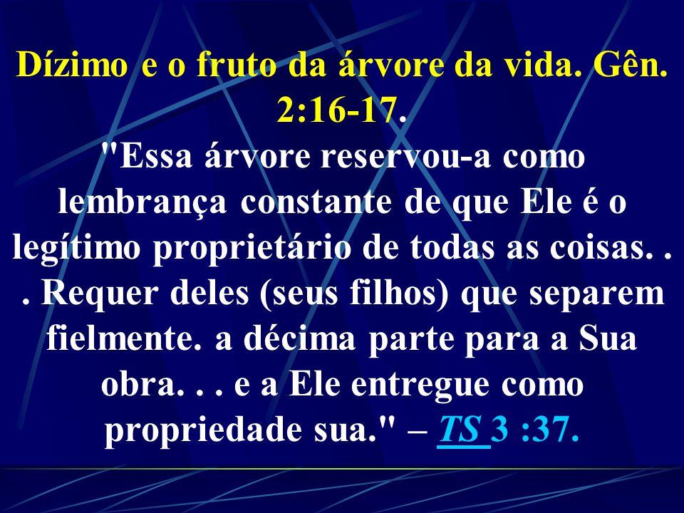 A ÁRVORE DA VIDA é uma representação do CUIDADO PROTETOR DE CRISTO por Seus filhos. Quando Adão e Eva comiam dessa árvore RECONHECIAM SUA DEPENDÊNCIA