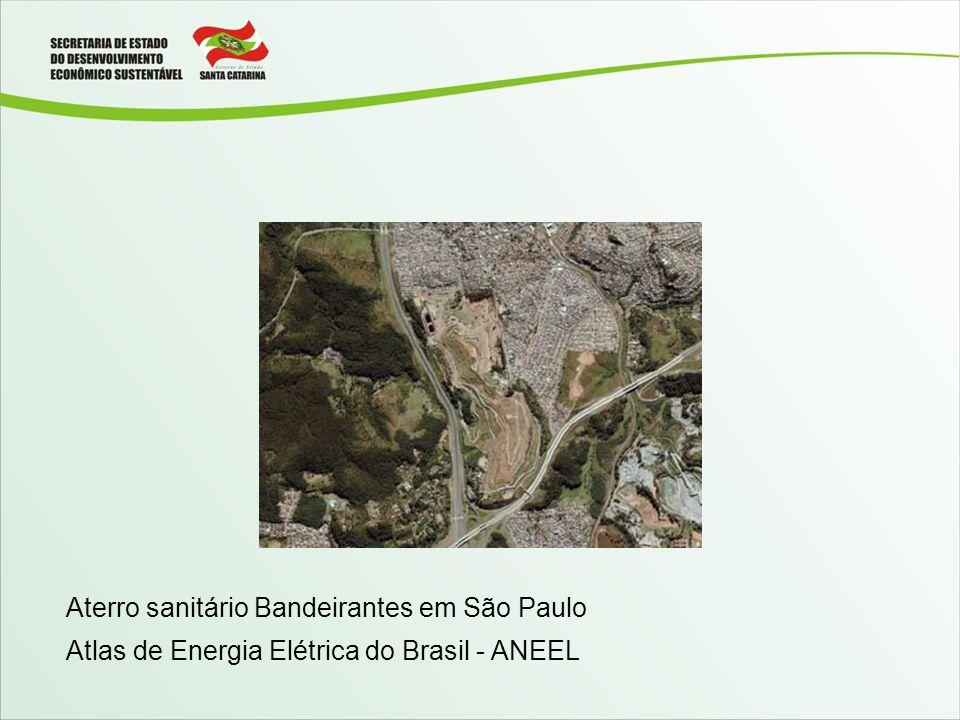Aterro sanitário Bandeirantes em São Paulo Atlas de Energia Elétrica do Brasil - ANEEL