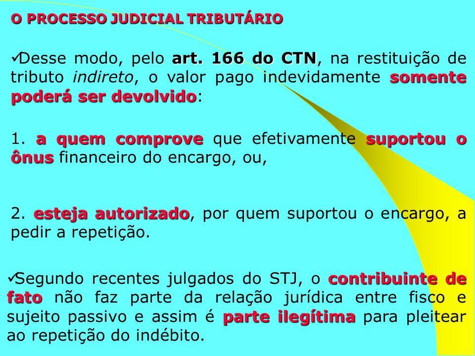 contribuinte de fato parte ilegítima Segundo recentes julgados do STJ, o contribuinte de fato não faz parte da relação jurídica entre fisco e sujeito