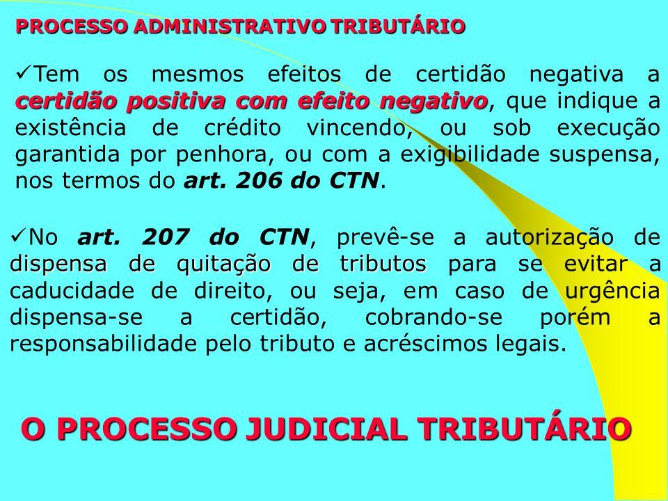 PROCESSO ADMINISTRATIVO TRIBUTÁRIO dispensa de quitação de tributos No art. 207 do CTN, prevê-se a autorização de dispensa de quitação de tributos par