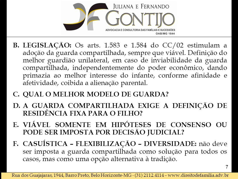 Rua dos Guajajaras, 1944, Barro Preto, Belo Horizonte-MG - (31) 2112.4114 – www.direitodefamilia.adv.br B.LEGISLAÇÃO: Os arts.