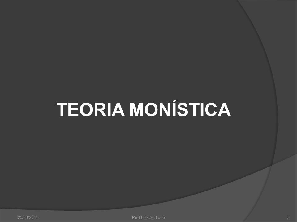 TEORIA MONÍSTICA 25/03/20145Prof Luiz Andrade