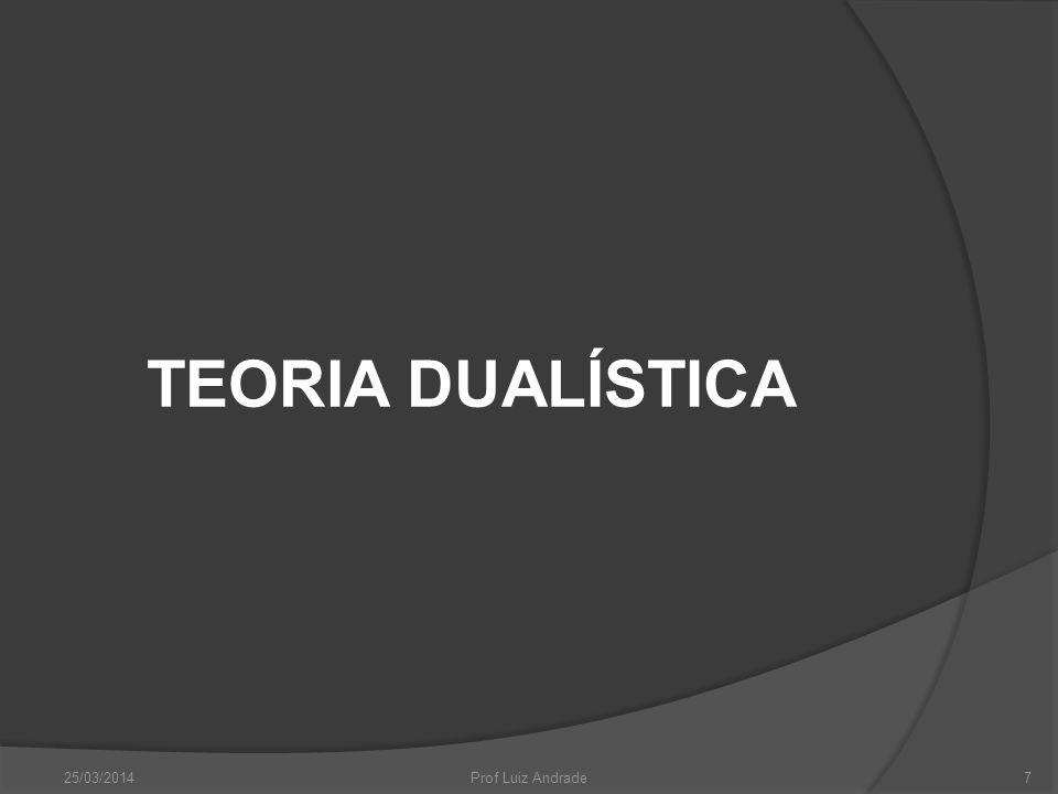 TEORIA DUALÍSTICA 25/03/20147Prof Luiz Andrade