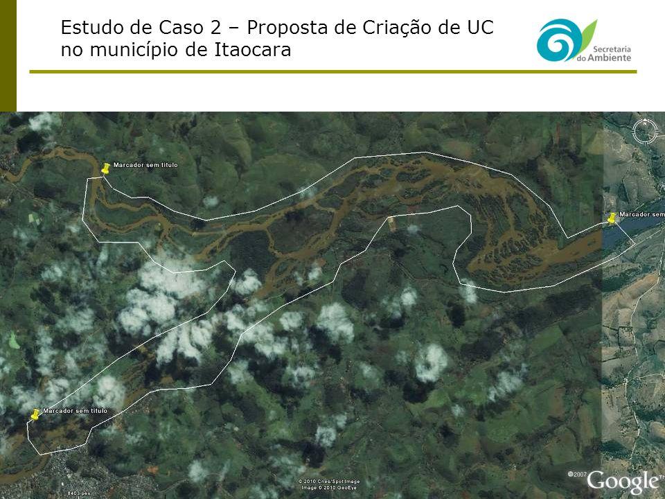 Estudo de Caso 2 – Proposta de Criação de UC no município de Itaocara