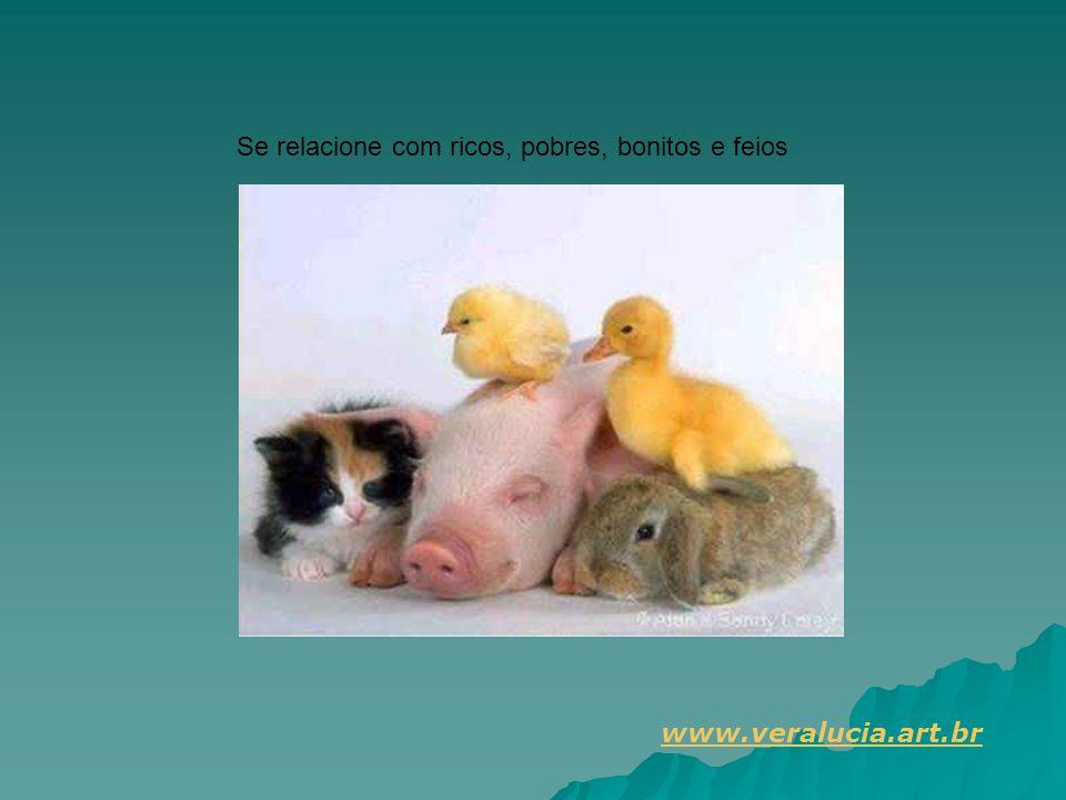 Se relacione com ricos, pobres, bonitos e feios www.veralucia.art.br