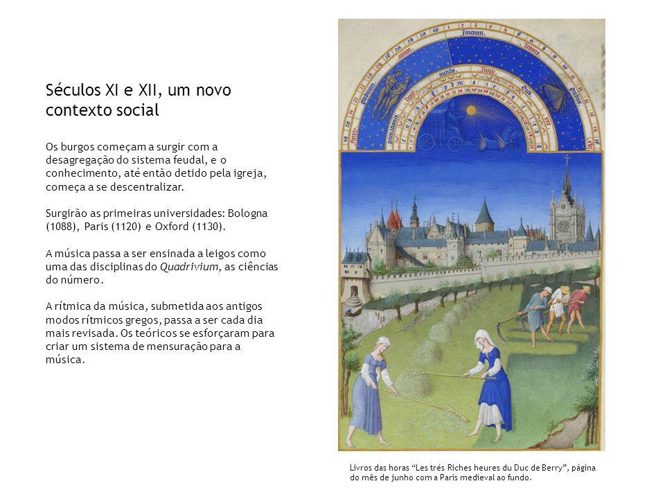 Séculos XI e XII, um novo contexto social Os burgos começam a surgir com a desagregação do sistema feudal, e o conhecimento, até então detido pela igr