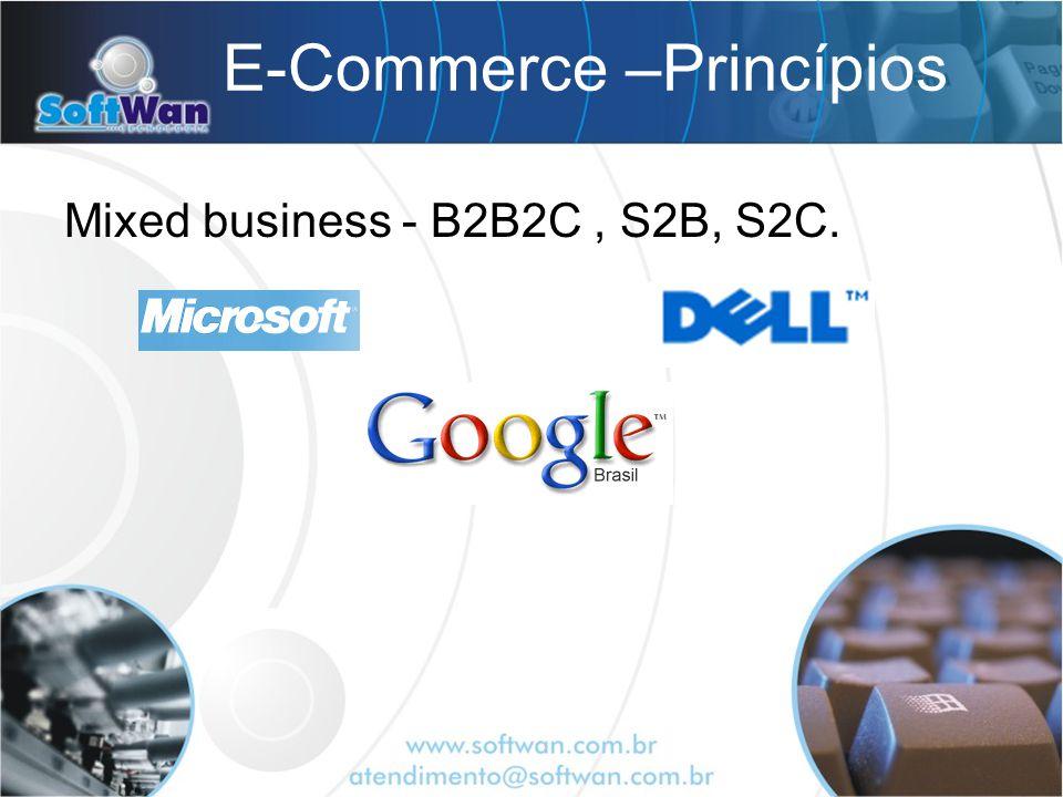 E-Commerce –Princípios Mixed business - B2B2C, S2B, S2C.