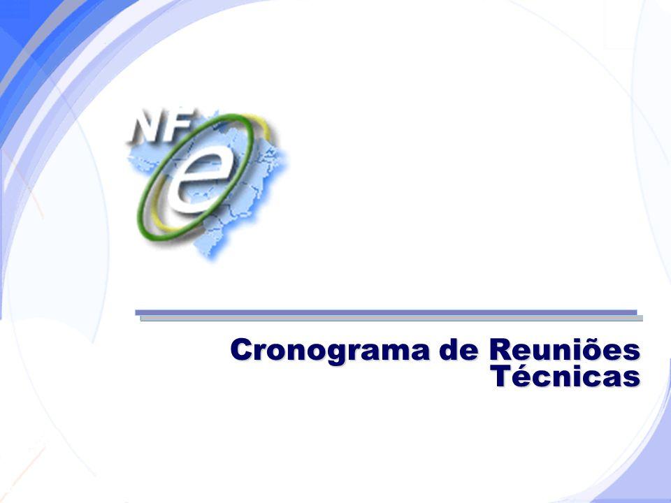 Secretaria da Fazenda Cronograma de Reuniões Técnicas
