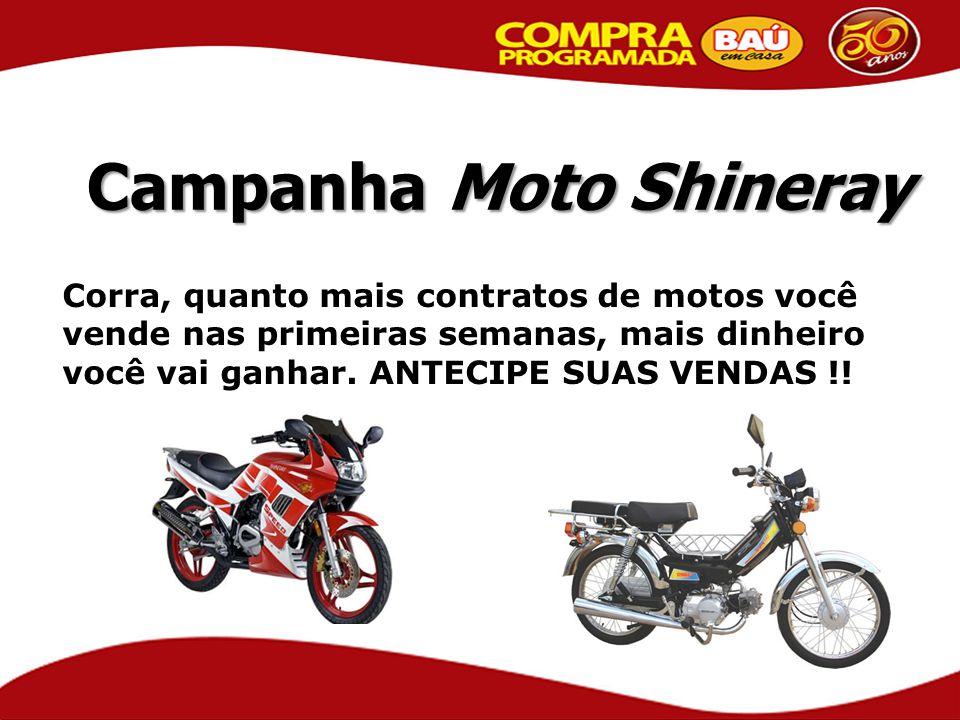 Campanha Moto Shineray Corra, quanto mais contratos de motos você vende nas primeiras semanas, mais dinheiro você vai ganhar. ANTECIPE SUAS VENDAS !!