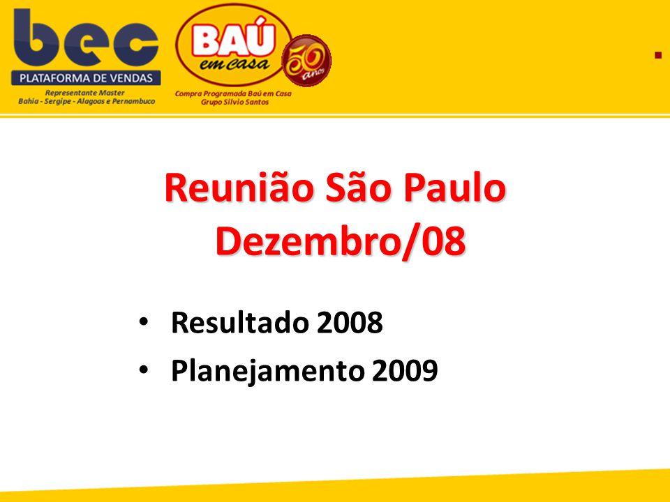Reunião São Paulo Dezembro/08 Dezembro/08 Resultado 2008 Planejamento 2009