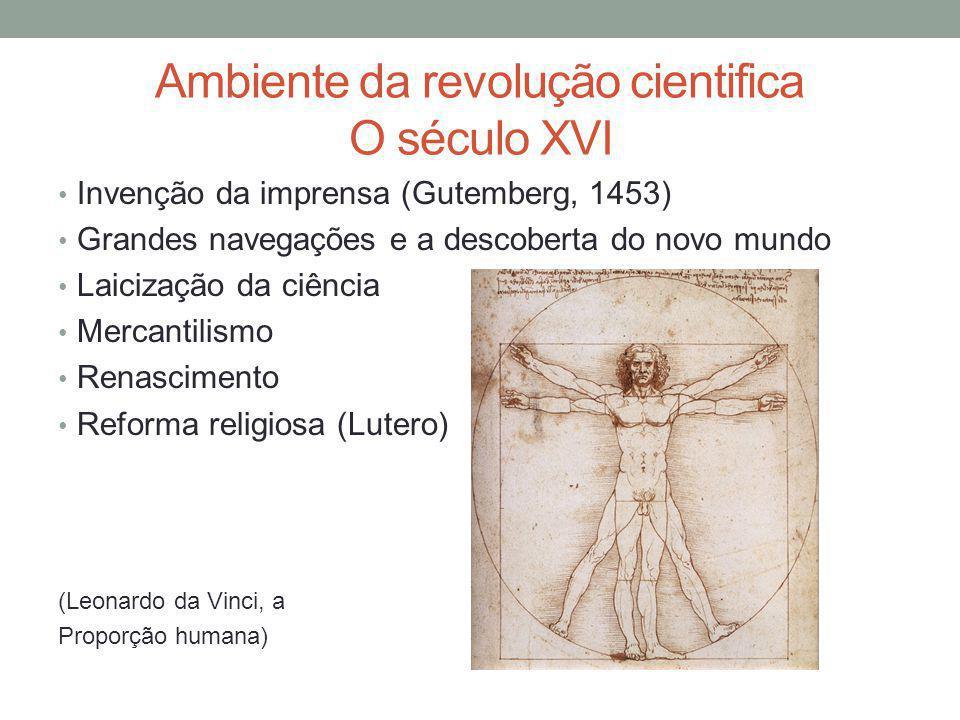 A revolução científica do sec.XVI.