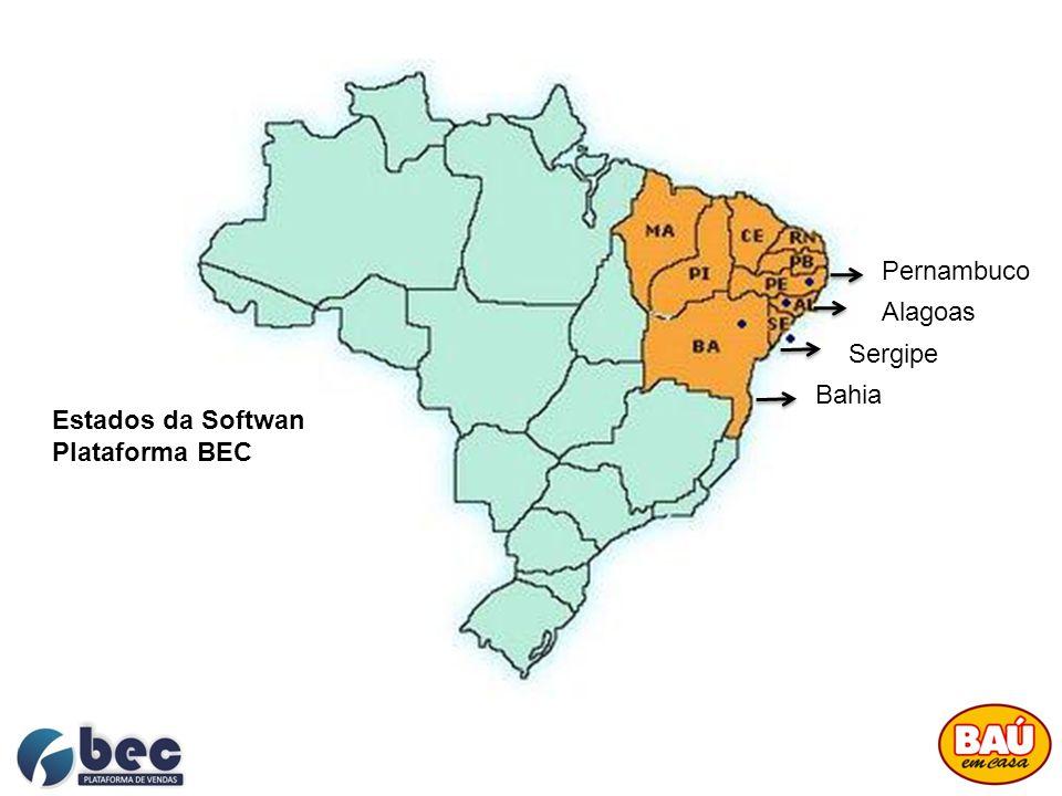 Pernambuco Alagoas Sergipe Bahia Estados da Softwan Plataforma BEC