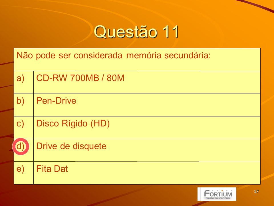 18 Unidades de Disco (Drives) Flexível (Entrada e Saída – Armazenamento) Flexível (Entrada e Saída – Armazenamento) –Disquetes de 3 ½ – 1,44MB Rígido (Entrada e Saída – Armazenamento) Rígido (Entrada e Saída – Armazenamento) Ótico –CD ROM (Entrada – Armazenamento) –CD ROM (Entrada – Armazenamento) –CD R/RW (Entrada e Saída – Armazenamento) –CD R/RW (Entrada e Saída – Armazenamento) 700 MB ou 80 minutos de som –DVD ROM (Entrada – Armazenamento) –DVD ROM (Entrada – Armazenamento) –DVD R/RW (Entrada e Saída – Armazenamento) –DVD R/RW (Entrada e Saída – Armazenamento) 4,7 GB ou 133 minutos de vídeo