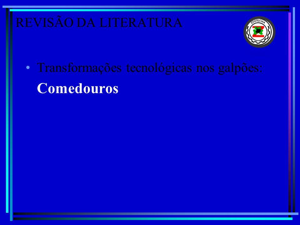 REVISÃO DA LITERATURA Transformações tecnológicas nos galpões: Comedouros