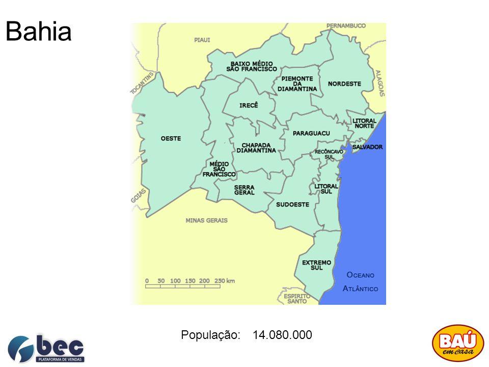 Bahia População: 14.080.000