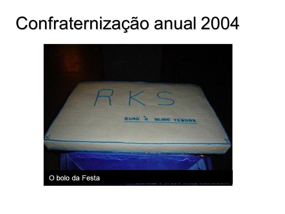 O bolo da Festa Confraternização anual 2004