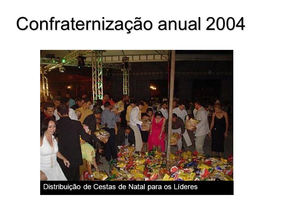 Confraternização anual 2004 Distribuição de Cestas de Natal para os Líderes