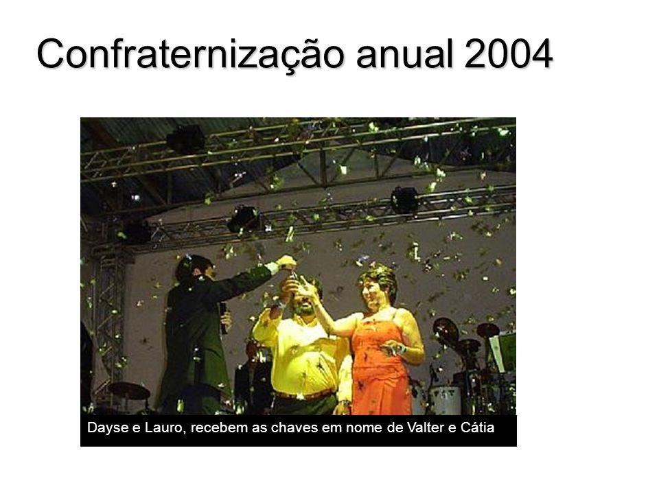 Confraternização anual 2004 Dayse e Lauro, recebem as chaves em nome de Valter e Cátia