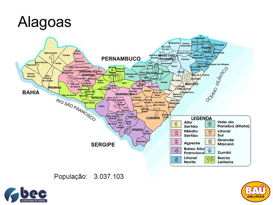 Target: Norte - Nordeste Representar 55% do volume total de vendas do BAÚ EM CASA