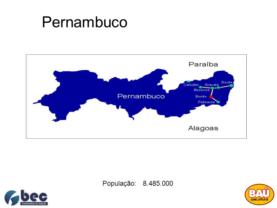 Pernambuco População: 8.485.000