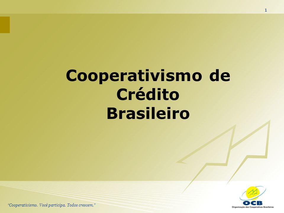 Cooperativismo. Você participa. Todos crescem. 1 Cooperativismo de Crédito Brasileiro