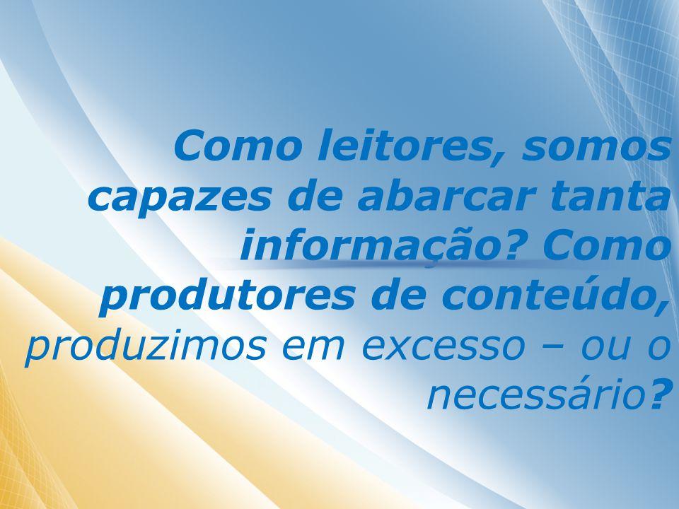 Nós, quando produtores de conteúdo, somos preparados para cuidar de nossas informações?