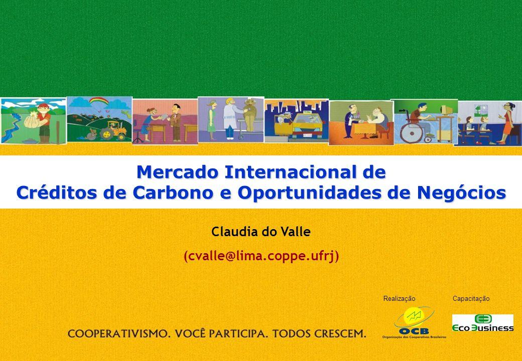 RealizaçãoCapacitação Mercado Internacional de Créditos de Carbono e Oportunidades de Negócios Claudia do Valle (cvalle@lima.coppe.ufrj)