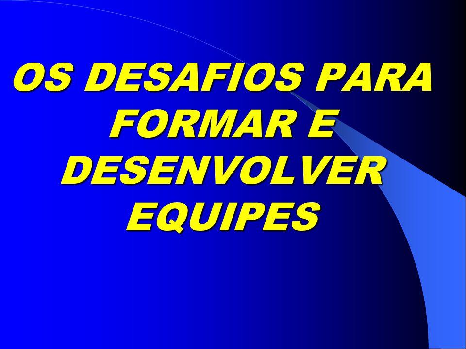 OS DESAFIOS PARA FORMAR E DESENVOLVER EQUIPES