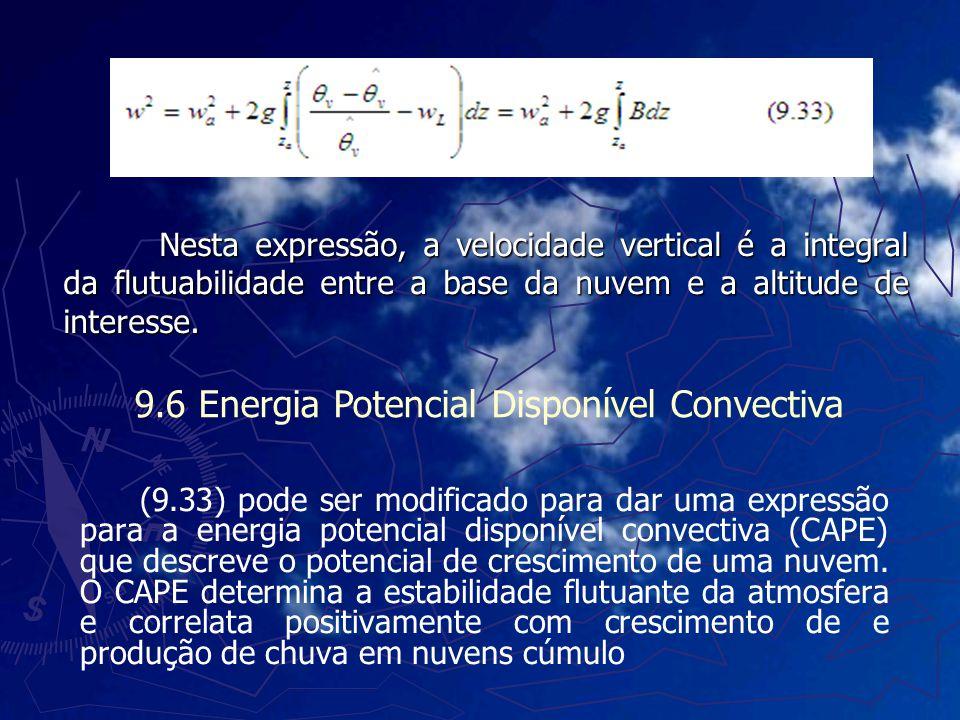Nesta expressão, a velocidade vertical é a integral da flutuabilidade entre a base da nuvem e a altitude de interesse. (9.33) pode ser modificado para