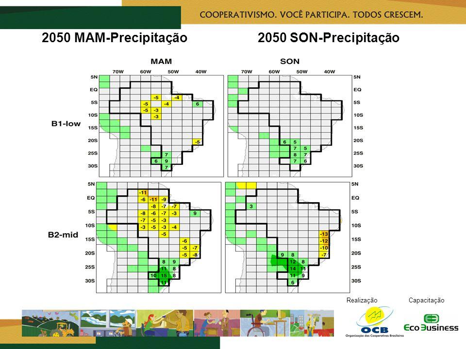 RealizaçãoCapacitação 2050 MAM-Precipitação 2050 SON-Precipitação