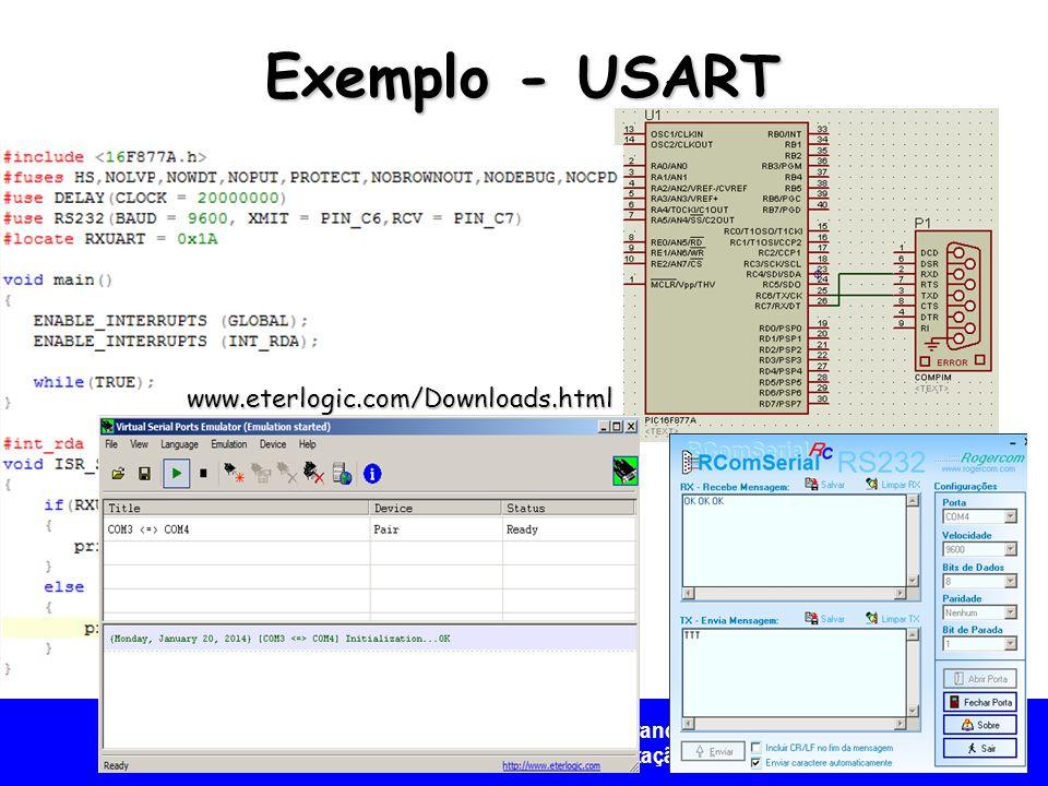 Universidade Federal do Vale do São Francisco - UNIVASF Colegiado de Engenharia da Computação – CECOMP Exemplo - USART www.eterlogic.com/Downloads.htm
